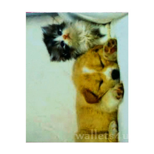 Magic Wallet, Dog with Cat - MWAP0077