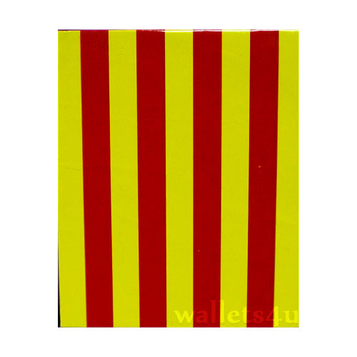 Magic Wallet, stripes, yellow, red - MWSP 0251