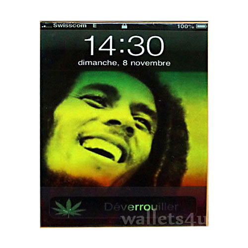 Magic Wallet, Bob Marley On Screen phone - MWFMSP 0182