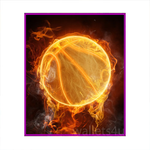 Magic Wallet, Basketball Ball on fire - MWSPP 0176