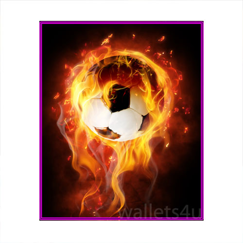 Magic Wallet, Football Ball on fire - MWSPP 0179