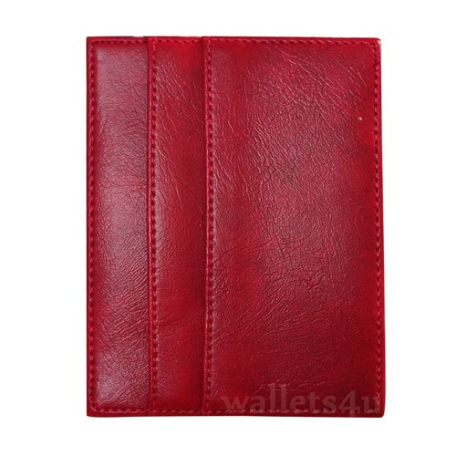 Magic Wallet, red leather, multi card - MC0280