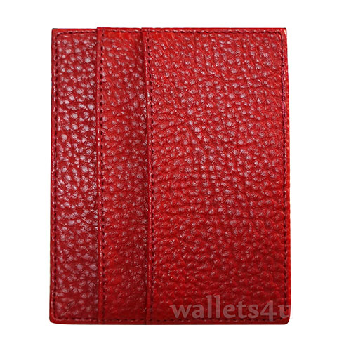 Magic Wallet, Leather Red, multi card - MC0271