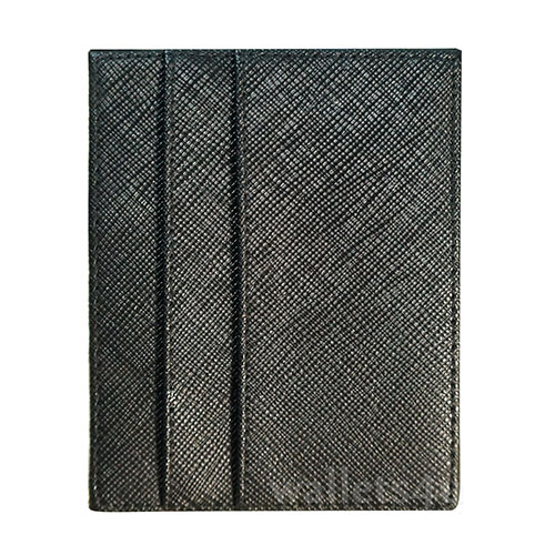 Magic Wallet, mesh effect black leather, multi card - MC0272