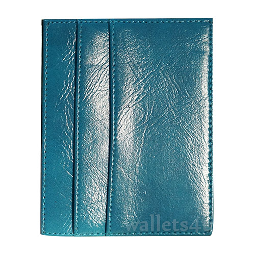 Magic Wallet, shiny blue leather, multi card - MC0281