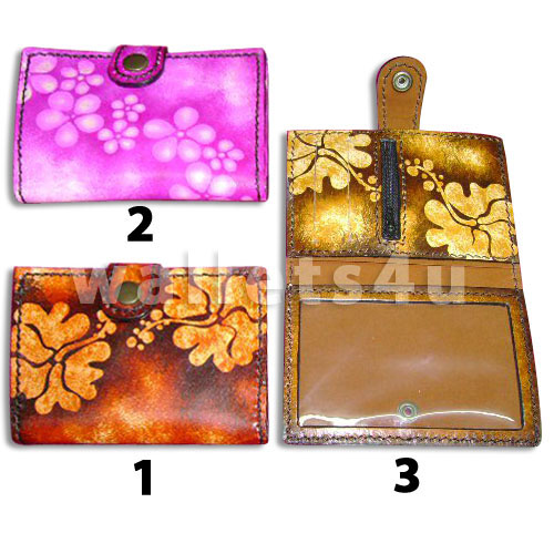 Leather Wallet, pink, red, brown, LW 0010