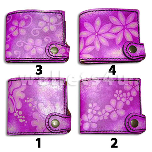 Leather Wallet, pink, LW 0009