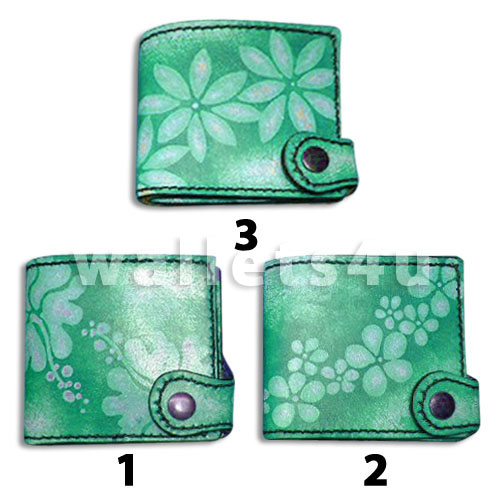Leather Wallet, green, LW 0005
