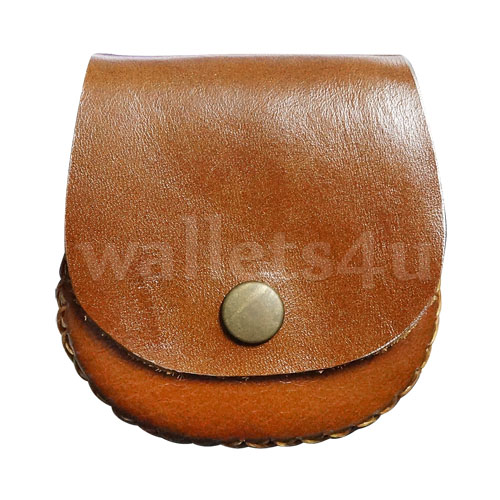 Leather Wallets, Coin Pouch, Brown - LCP 0007