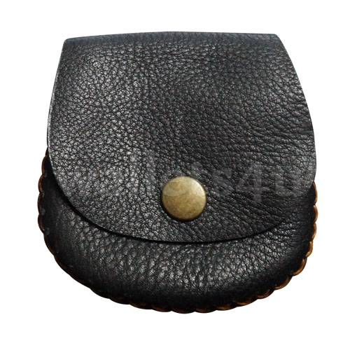 Leather Wallets, Coin Pouch, Black - LCP 0006