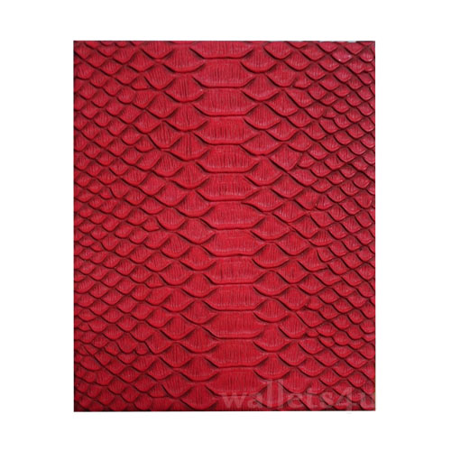 Magic Wallet, MWPD0049, Snake Leather Red Lusterless