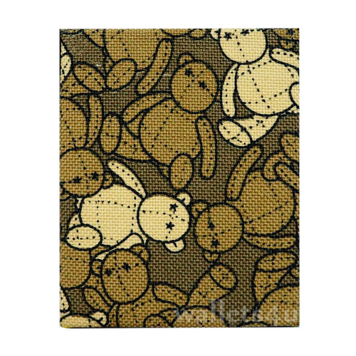 Magic Wallet, MWPD0015, Bear Dolls Brown