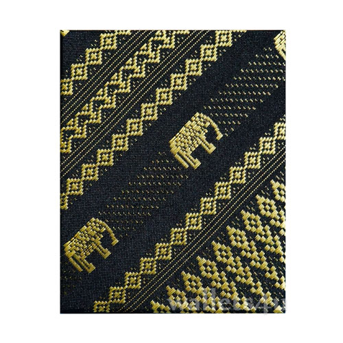 Magic Wallet, MWPD0059, Thai Elephant Black Yellow
