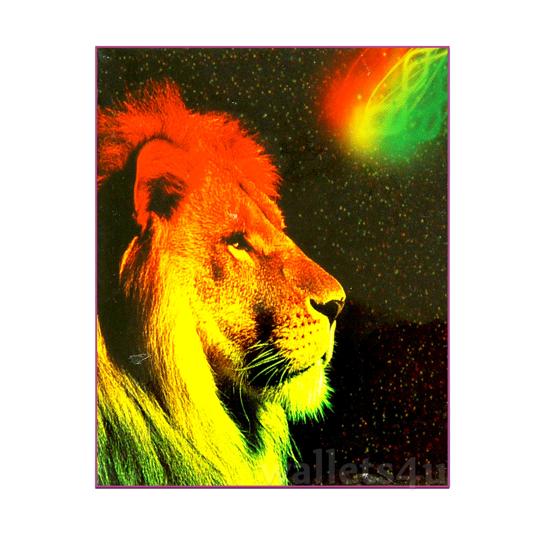 *Magic Wallet, Lion (Colorful) - MWAP0072