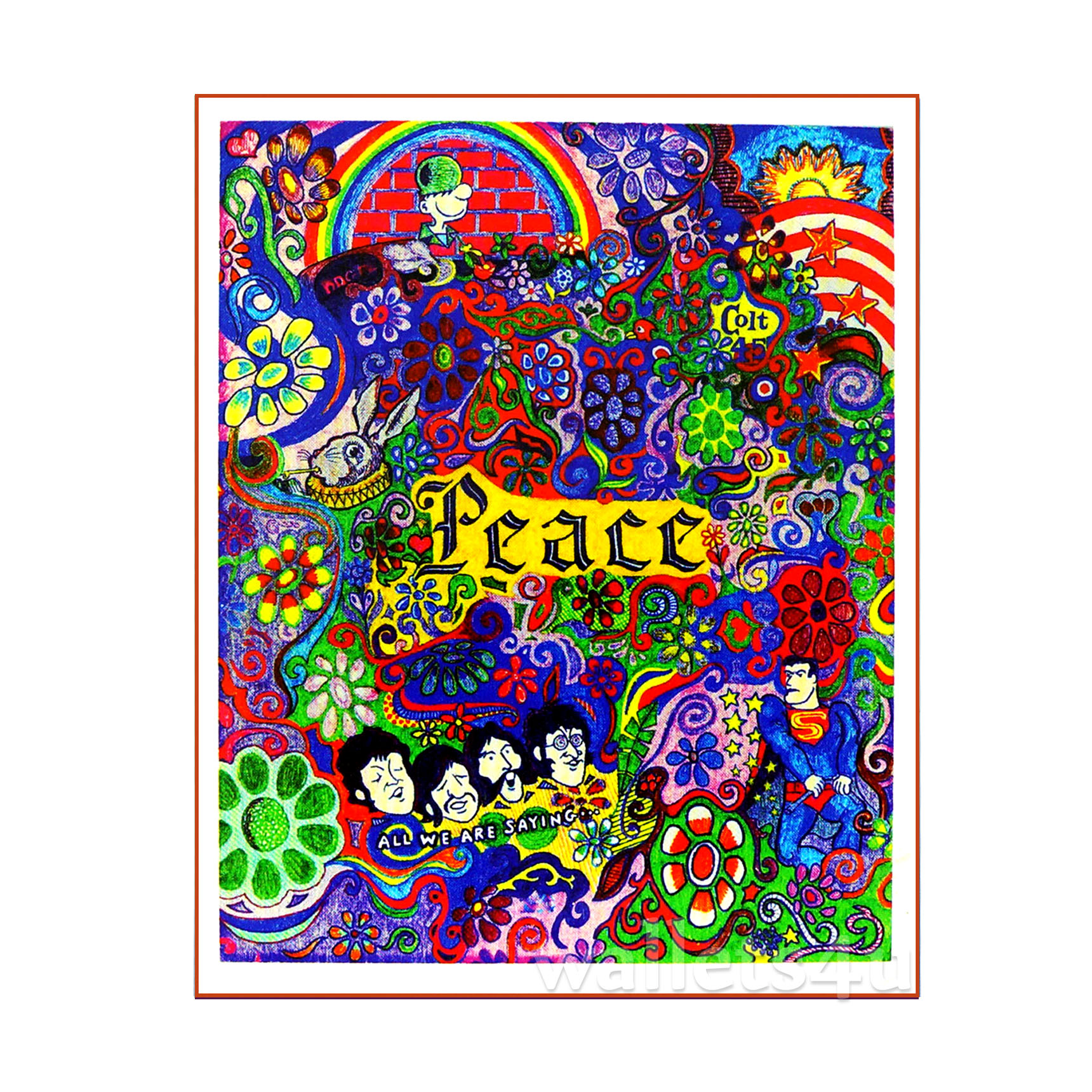 Magic Wallet, Peace and Flowers - MWSP 0242