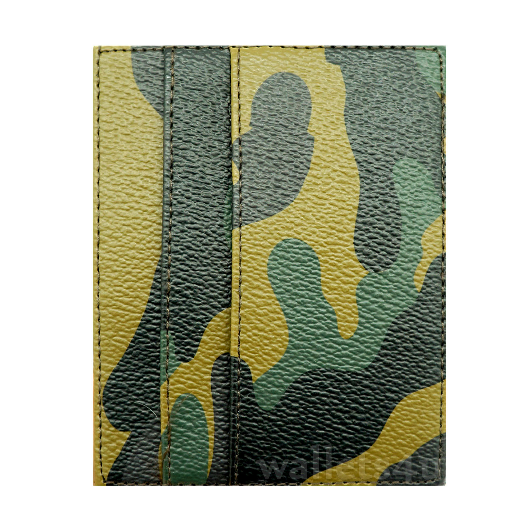 Magic Wallet, Army leather, multi card - MC0255