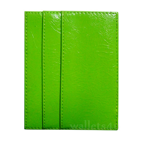 Magic Wallet, shiny green leather, multi card - MC0282