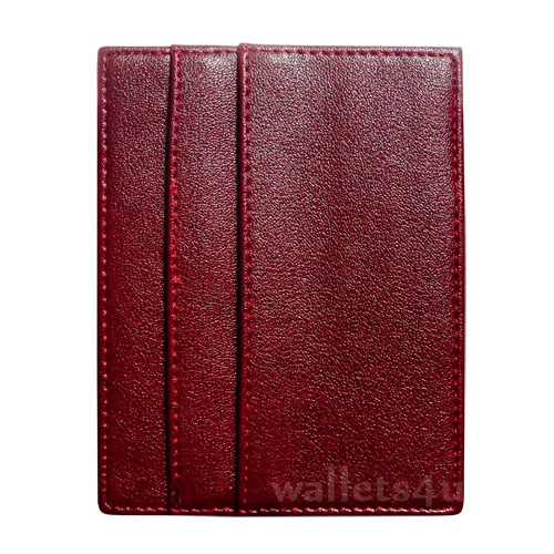 Magic Wallet, red leather, multi card - MC0279
