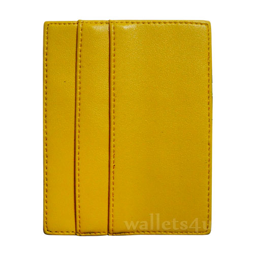 Magic Wallet, yellow leather, multi card - MC0288