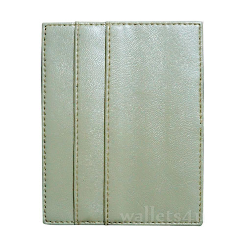 Magic Wallet, white leather, multi card - MC0287