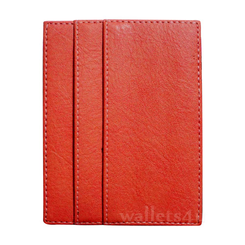 Magic Wallet, orange leather, multi card - MC0276