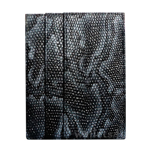 Magic Wallet, snake leather black, multi card - MC0285