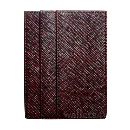 Magic Wallet, mesh effect brown leather, multi card - MC0273
