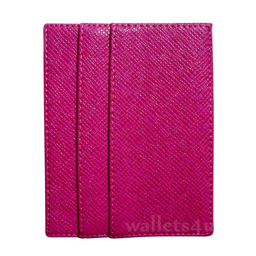 Magic Wallet, mesh effect fresh pink leather, multi card -MC0274